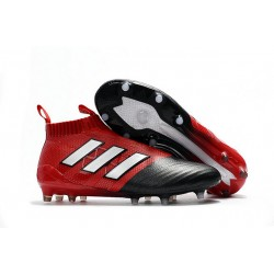 Adidas ACE 17+ PureControl FG Scarpini da Calcio - Rosso Nero Metallico