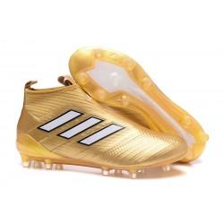 Adidas ACE 17+ PureControl FG Scarpini da Calcio - Oro Bianco
