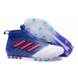 Scarpa da Calcio Nuove Adidas ACE 17+ PureControl FG - Blu Rosa Bianco