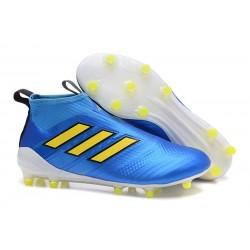 Scarpa da Calcio Nuove Adidas ACE 17+ PureControl FG - Blu Giallo