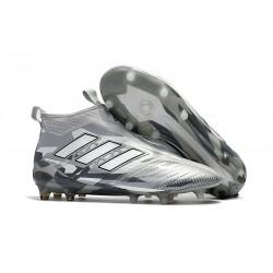 Scarpa da Calcio Nuove Adidas ACE 17+ PureControl FG - Grigio Bianco