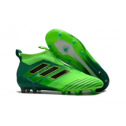 Scarpa da Calcio Nuove Adidas ACE 17+ PureControl FG - Verde Nero