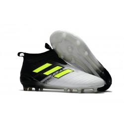adidas Scarpe Calcio Ace 17+ Pure Control FG - Nero Bianco Giallo