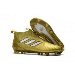 adidas Scarpe Calcio Ace 17+ Pure Control FG - Oro Bianco