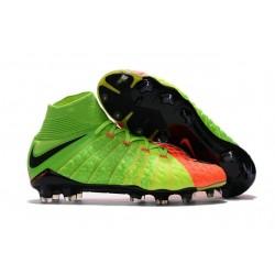 Scarpe da Calcio Nike Hypervenom Phantom III DF FG - Verde Arancio