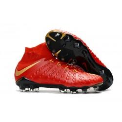 Scarpe da Calcio Nike Hypervenom Phantom III DF FG - Rosso Oro
