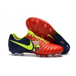 Nike Tiempo Legend VII FG Scarpe da Calcio Canguro - Barcelona Rosso