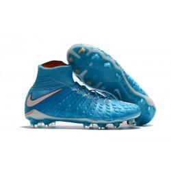 Nike Neymar Scarpini da Calcio Hypervenom Phantom 3 DF FG - Blu Bianco