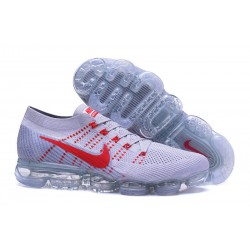 Nike 2018 Air Vapormax Flyknit Scarpe Bianco Rosso