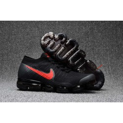 Nike 2018 Air Vapormax Flyknit Scarpe Nero Rosso