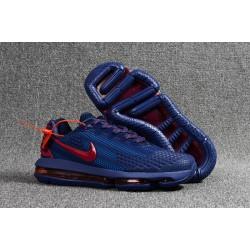 Nike Scarpe Air VaporMax Flyknit Uomo - Profondo Blu Rosso