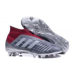 adidas Predator 18+ FG Scarpa Pogba Grigio Rosso