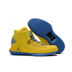 Nike Scarpe Air Jordan 32 Uomo Giallo Blu