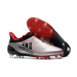 adidas X 17+ Purespeed FG Scarpa da Calcetto - Argento Rosso