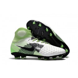 Scarpe da Calcio Uomo Nike Magista Obra II FG - Bianco Verde