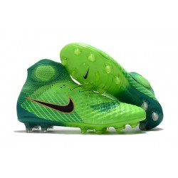 Scarpe da Calcio Uomo Nike Magista Obra II FG - Verde Nero
