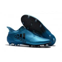 Scarpe da Calcio Nuove adidas X 17+ Purespeed FG - Blu Nero