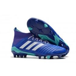 Adidas Predator 18.1 FG Nuovi Scarpa da Calcetto - Blu Bianco