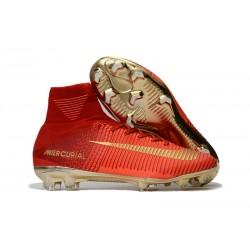 Nike Mercurial Superfly V DF CR7 FG Scarpe Calcio - Rosso Oro