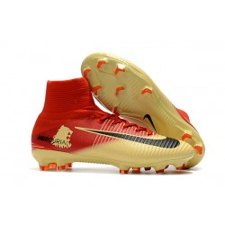 Nike Mercurial Superfly FG 5 DF FG Scarpa da Calcio - Rosso Oro