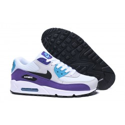 Scarpe Nike Air Max 90 Bianco Viola Blu