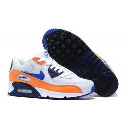 Scarpe Nike Air Max 90 Blanco Arancio Blu