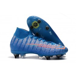 Nike Mercurial Superfly VII Elite SG-Pro Anti-Clog Blu Rosso