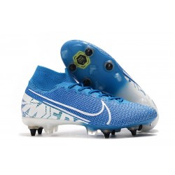 Nike Mercurial Superfly VII Elite SG-Pro Anti-Clog Blu Bianco