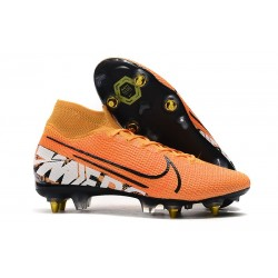 Nike Mercurial Superfly VII Elite SG-Pro Anti-Clog Arancio Bianco
