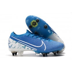 Nike Mercurial Vapor XIII Elite SG Pro Anti Clog New Lights Blu Bianco