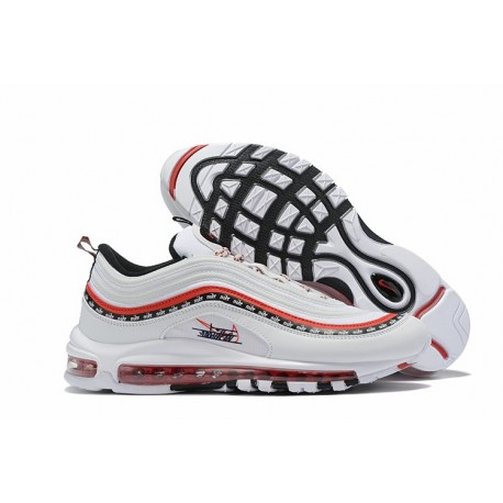 Nike Sneakers Air Max 97 Bianco Rosso