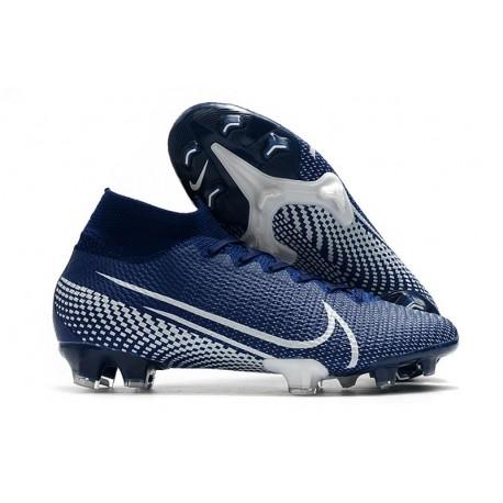 Nike Mercurial Superfly VII Elite FG Scarpa da Calcio Blu Bianco