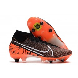 Nike Mercurial Superfly VII Elite SG-Pro Anti-Clog Nero Bianco Cremisi