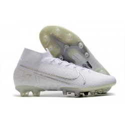 Nike Scarpa da Calcio Mercurial Superfly 7 Elite AG-Pro Bianco