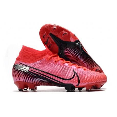 Nike Mercurial Superfly VII Elite FG Scarpa da Calcio Cremisi Laser Nero