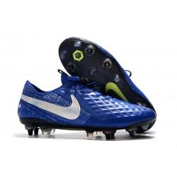 Scarpe Calcio Nike Tiempo Legend Elite SG Blu Argento