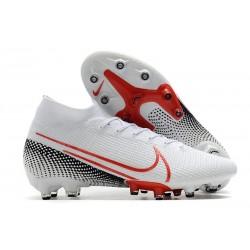 Nike Scarpa da Calcio Mercurial Superfly 7 Elite AG-Pro Bianco Rosso