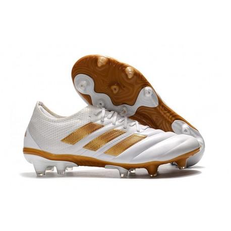 Scarpe da Calcio Adidas Copa 19.1 FG -Bianco Oro Metallico