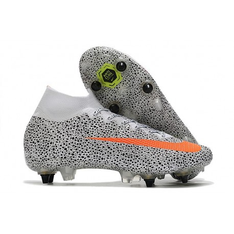 Nike Mercurial Superfly 7 Elite SG-Pro AC CR7 Bianco Arancione Nero