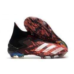 adidas Scarpa Calcio Predator Mutator 20+ FG Nero Core Bianco Rosso Active