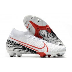 Nike Mercurial Superfly 7 Elite DF FG Bianco Cremisi Laser Nero