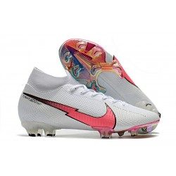 Nike Mercurial Superfly 7 Elite DF FG Bianco Cremisi