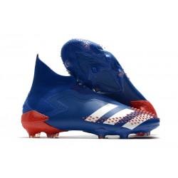 adidas Scarpa Calcio Predator Mutator 20+ FG Blu Royal Bianco Rosso Active