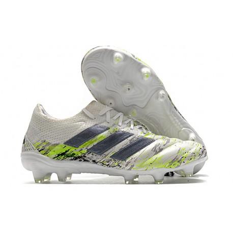 Scarpa Nuovo adidas Copa 20.1 FG - Bianco Nero Core Verde Signal