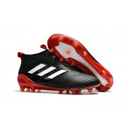 Adidas ACE 17+ PureControl FG Scarpini da Calcio - Nero Bianco Rosso