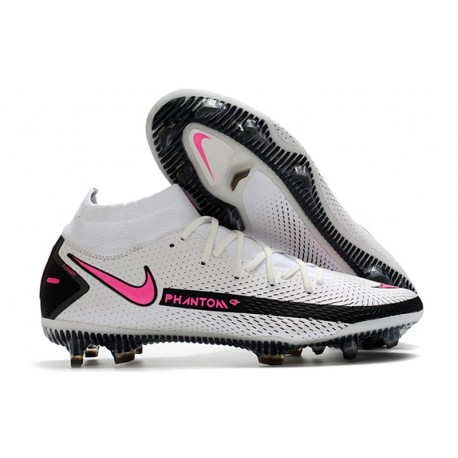 Scarpe Nike Phantom Gt Elite Dynamic Fit Fg Bianco Rosa Blast Nero