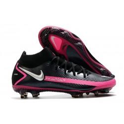 Scarpe Nike Phantom Gt Elite Dynamic Fit Fg Nero Argento Rosa Blast
