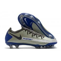 Scarpa Nouvo 2021 Nike Phantom GT Elite FG Blu Grigio Nero
