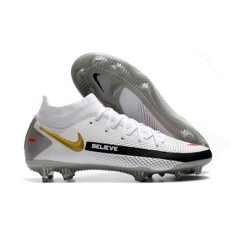 Scarpe Nike Phantom Gt Elite Dynamic Fit Fg Bianco Nero Oro Rosso
