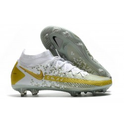 Scarpe Calcio Nike Phantom Gt Elite Dynamic Fit Fg Bianco Oro